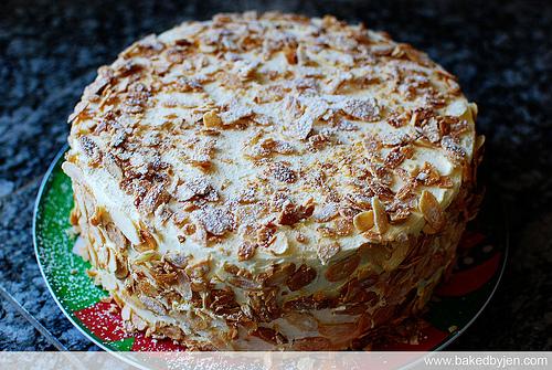 Homemade Burnt Almond Cake Recipe
