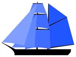 Sail plan of a Brigantine.