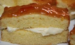 Mini Sponge Cakes Recipe With Buttercream Filling And Orange Glaze