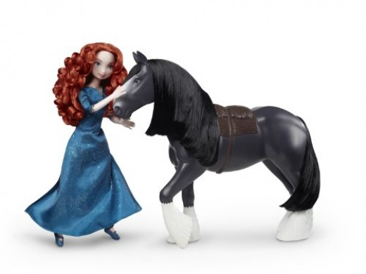 Doll Merida with her... My Little Pony Angus?