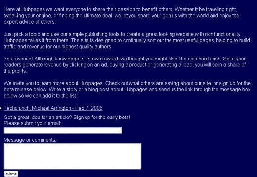 HubPages.com on February 9, 2006