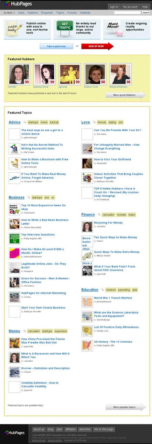 HubPages.com on September 22nd, 2008