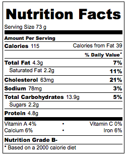 nutrition for 1 crepe