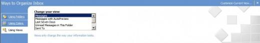 Organize Outlook Inbox Using Views
