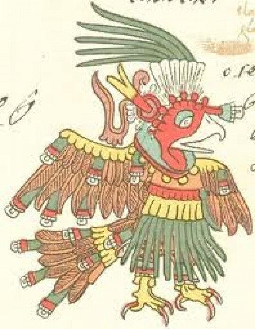 Aztec drawing of turkey