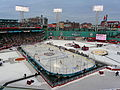 Fenway Park set up for the Winter Classic 2010