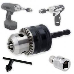 """Neiko Heavy-Duty 3/8"""" Conversion Chuck for Impact Drivers - Quick Change Shank - 1/2"""" Adapter for Impact Wrench"""