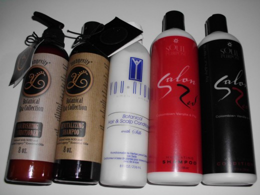 Youngevity hair care products - Botanical Spa Collection in amber bottles are my natural hair product choices.
