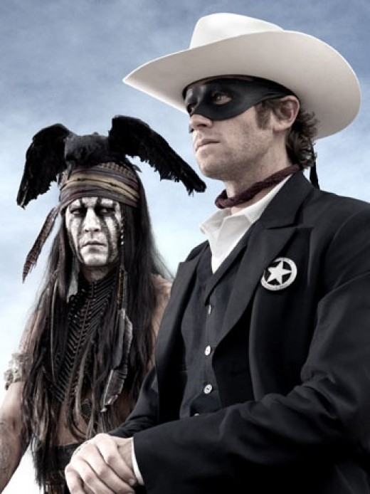 Tonto with his friend the Lone Ranger