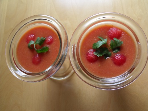 Tomato and Watermelon Soup