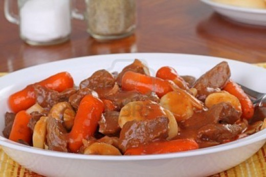Steaming hot and ready to be enjoyed. You can almost smell this Traditional English Beef Stew!