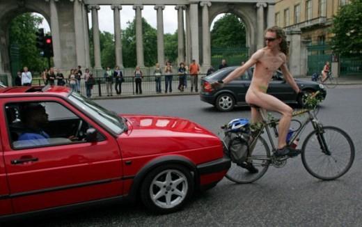 San Francisco naked bike ride.