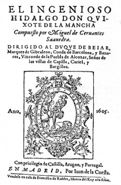First Edition puplication of the novel, Don Quijote.