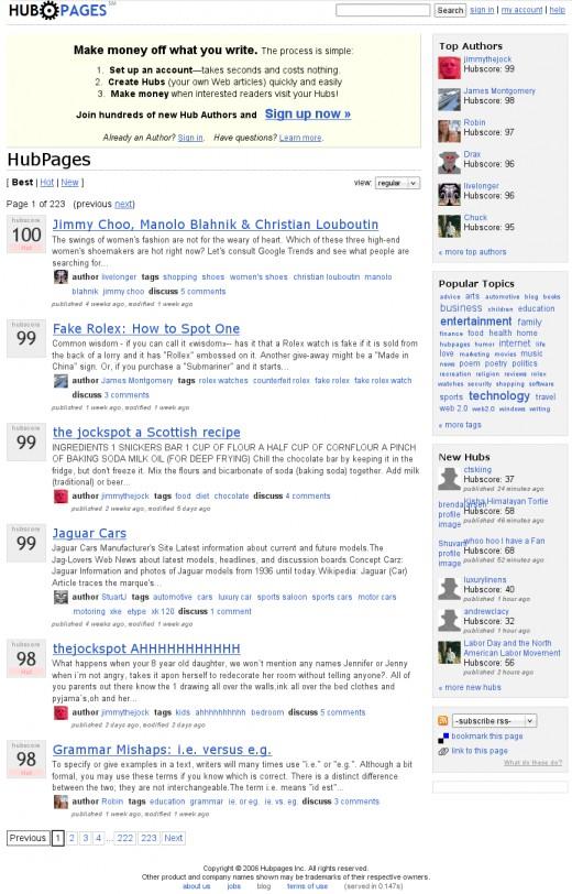 HubPages.com on October 19th, 2006
