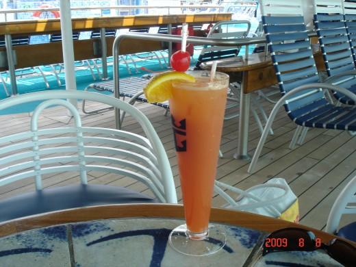 Grandeur of the Seas - welcome beverage