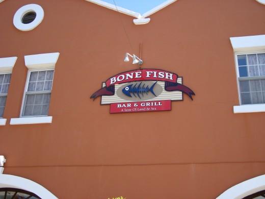 Bermuda lunch at Bone Fish
