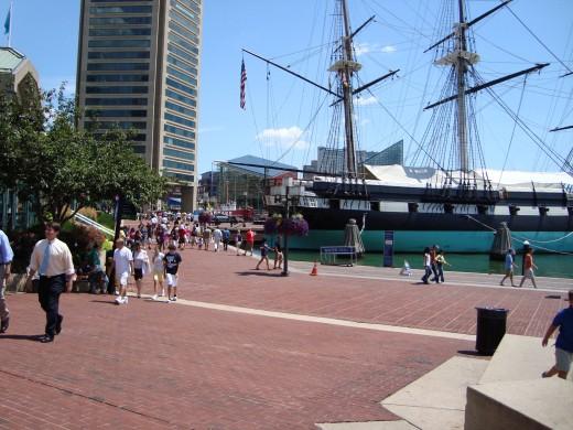 entering Baltimore harbor looking left