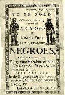 Slave Auction Ad.