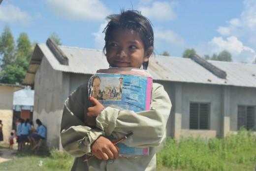 A school girl in rural Nepal