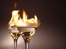 Flaming Cocktails
