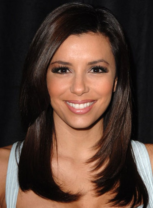 Eva Longoria's super sleek straight hair