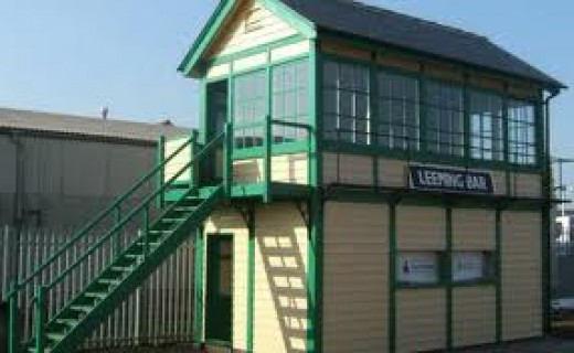 The new signal box bought from the North Norfolk Railway, installed to replace the long since demolished original one at Leeming Bar