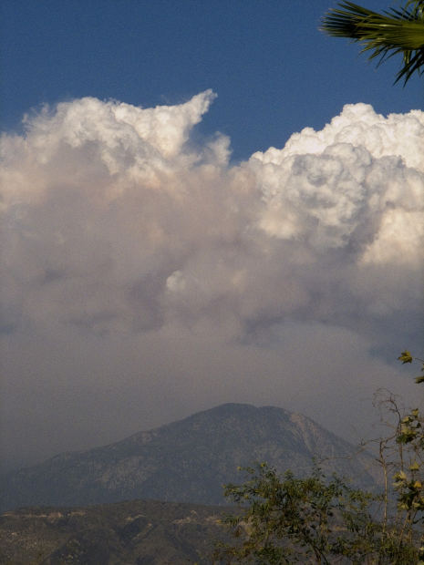 Clouds circling Elk Mountain.