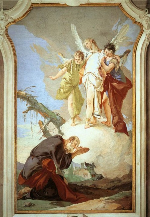 The Angels Appear to Abraham, Giovan Battista Tiepolo (1696-1770)