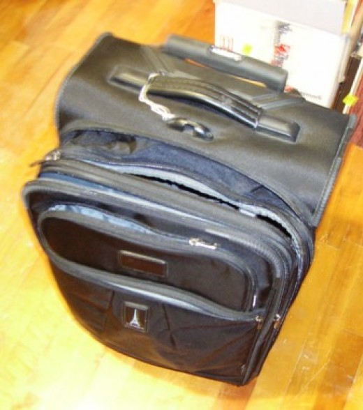 This Travelpro bag is great for airports, train stations and bus terminals. Bob Ewing photo