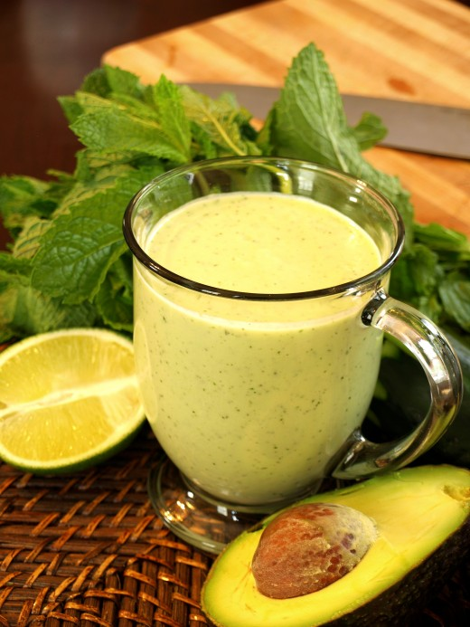 Avocado Shake with Mint and Lime