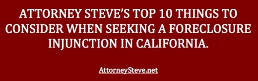 California Real Estate Lawyer discusses top 10 injunction factors.
