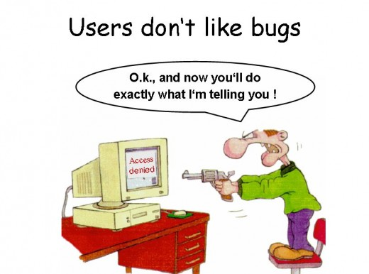 Users Don't like bugs