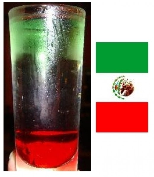 With the colors of the Mexican flag, the Mexican Flag Shooter perfect for Mexican fiestas like Cinco de Mayo