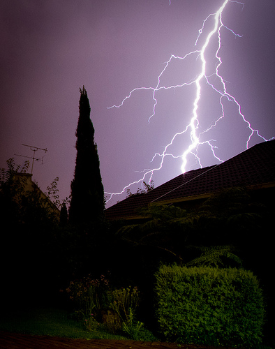 Lightning storm in Johannesburg - lightning capital of the world