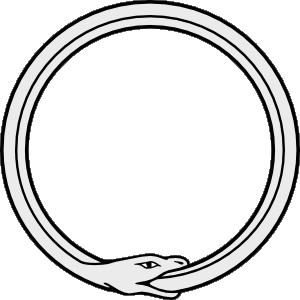 ouroboros (snake eating it's OWN tail)