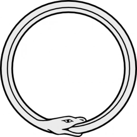 ouroboros (snake eating it's OWN tail)