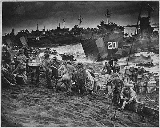 The invasion of Iwo Jima continued to March 26, 1945.