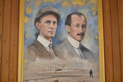Wright Brothers painting at Wright Brothers Memorial North Carolina