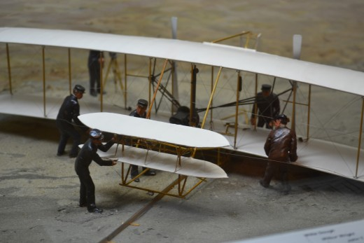 A Wright Brothers replica plane