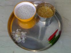How to make arisiyum paruppu choru - A Kongu Nadu recipe