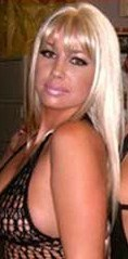 Amber Rose with Long Blonde Wig with Bangs