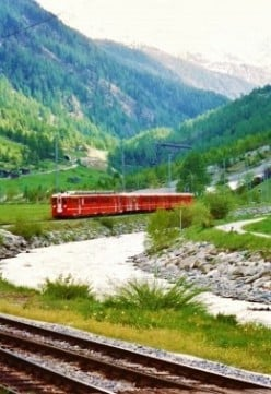 Glacier Express Train to Tasch, Zermatt and Matterhorn Mountain in Switzerland with Pictures