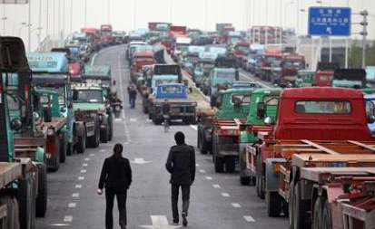 Chinese truckers strike on wages- the government tried to block it out to avoid discontent and others from striking on other issues.