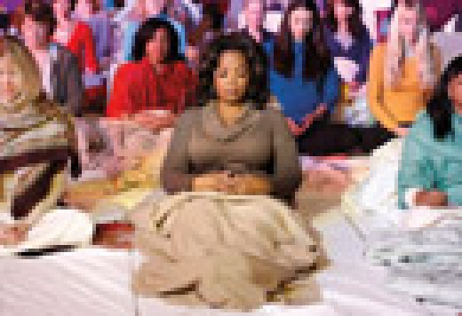 Oprah practicing The Transcendental Meditation Technique in the Ladies  Dome in Fairfield, IA