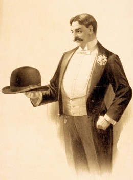 A gentleman in tailcoat in days of yore.