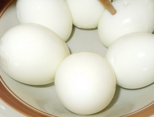 Shelled Boiled Eggs