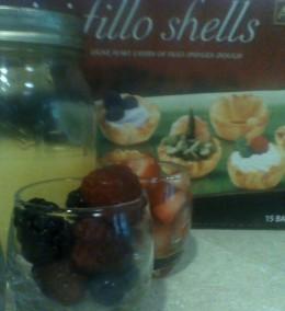 Ingredients for my mini fruit tarts