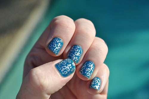 Turn your leopard prints from sexy to cool by using cool summer colors like blue. Aren't they amazing?