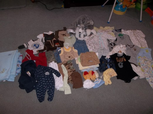 Baby clothes that I posted on Facebook Rummage sale and made money on in less than an hour!