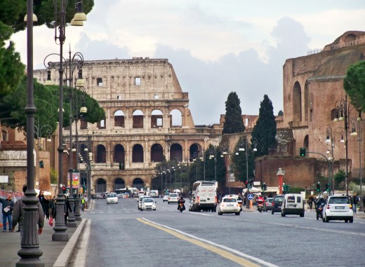 Looked to the left to see...the Colliseum
